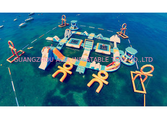 China Safe Ocean Inflatable Water Park / Commercial Floating Water Playground factory