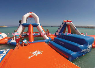 Durable Airtight Inflatable Floating Water Park , Inflatable Party Island
