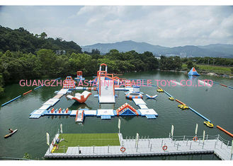 Commercial Inflatable Water Park For Amusement Resort Flame Resistance