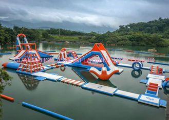 China 0.6 - 0.9mm PVC Inflatable Floating Water Park With Printing Logo supplier
