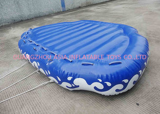China 4 Passangers Inflatable Water Ski Tubes Towable Water Surfboard Platform For Beach factory