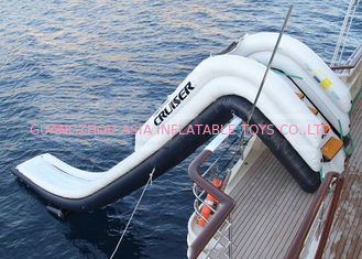 China Outdoor Inflatable Water Floating Sports, Inflatable Yacht Slide For Boat/Yacht factory