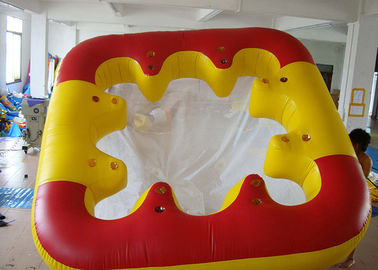 China Water Proof Fiesta Inflatable Floating Island , Family Inflatable Boat factory
