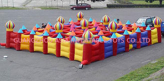 China Outdoor Inflatable Maze Games For Outdoor Amusement Park Games factory