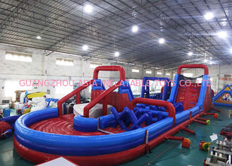China Durable Inflatable Amusement Equipment , Blow Up Obstacle Course For Playground Games factory