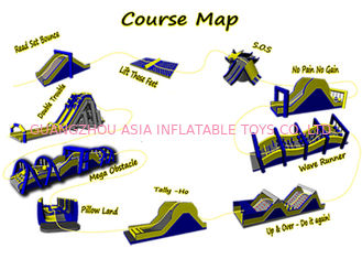 China Customized Color Inflatable Obstacle Challenges / Inflatable Obstacle Course 5k supplier