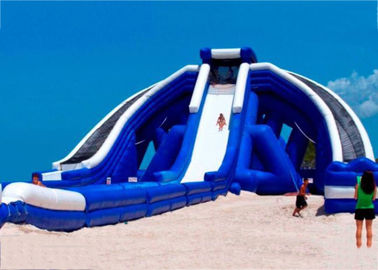 0.55mm PVC Tarpaulin Giant Inflatable Slide For Beach Sports Exciting