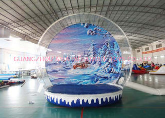 China Holiday Decoration Large Christmas Inflatable Snow Globe 3m To 8m Diameter factory