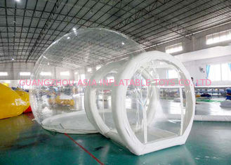 China Half Transparent Inflatable Dome Tent / Bubble Tent For Lawn Camping factory