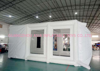 China Fireproof Mobile Inflatable Paint Tent For Car Repair / Blow Up Spray Booth factory