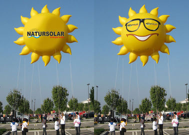 China Sun Shaped Custom Inflatable Helium Balloons And Blimps 0.18mm PVC Material factory