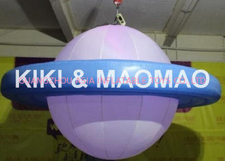China Inflatable UFO Saturn Helium Balloon , Custom PVC Advertising Character Balloon factory