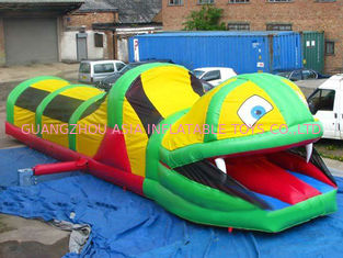 China Inflatable Tunnel Maze , Snake Train Tunnel For School Amusement Equipment factory