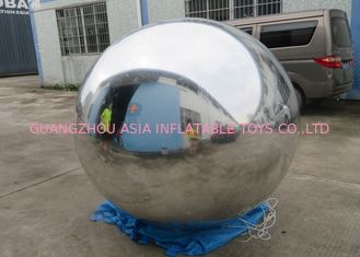 China 2m Silver Helium Balloon And Blimps Stage Decoration Ball For Fashion Show factory