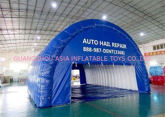 China Lightweight Blue Airtight Inflatable Tunnel Tent For Advertising , Celebration factory