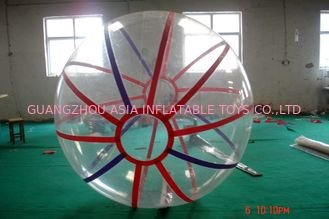 China Kids Inflatable Pool Accessproes Water Ball with Color Strips for Play factory
