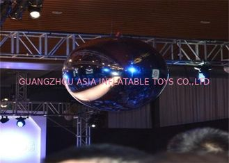 China Advertising Mirror Helium Balloon And Silver Mirror Ball Inflatable For Party factory