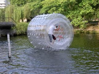China Durable Inflatable Transparent Water Roller for Outdoor Use and Kids Inflatable Pool factory