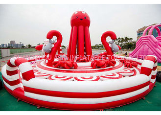 China 0.55mm PVC Tarpaulin Pink Inflatable Combos Octopus Playground CE EN71 EN14960 factory