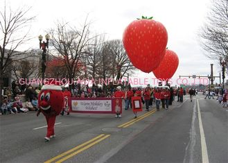 Advertising Inflatables Strawberry Character Balloon Giant Fruits Flying Ball