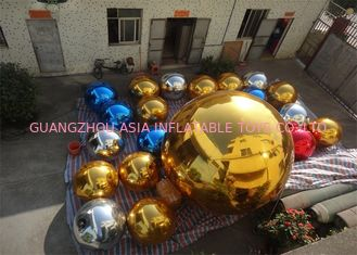 China Inflatable Colorful Mirror Balloon Event Use Inflatable Ground Mirror Ball factory