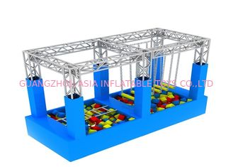 China American Inflatable Sports Games / Kids Game Ninja Warrior Obstacle Course Trampoline factory