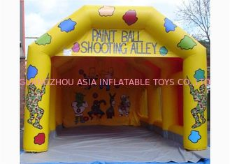 China Commercial Inflatable Event Tent , Inflatable Paintball Shooting Cage factory