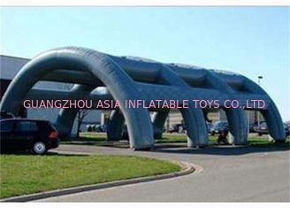 China PVC Material And Glue Tunnel Large Inflatable Paintball Arena For Sports Game factory