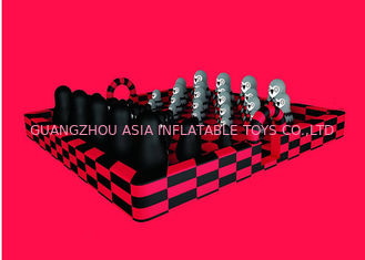 Commercial Giant Inflatable Fun City Black And Red Zoo Jumping Bounce For Kids
