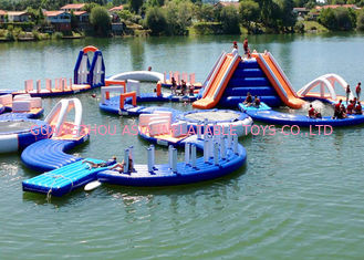 Commercial Outdoor Sea Inflatable Water Parks For Sport Games Fire Resistance