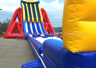China Custom Giant Inflatable Slide With Lovely Theme Hand Painting factory