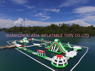 0.9mm PVC Tarpaulin Lake Inflatable Water Park For Birthday Parties 3 Years Warranty