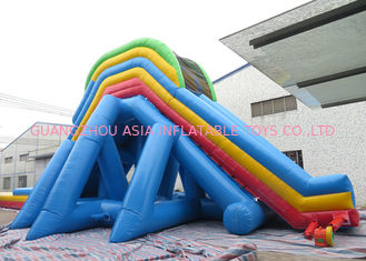 China 0.55mm PVC Tarpaulin Giant Inflatable Slide With Double Stitching factory