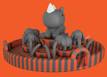 China Pig Inflatable Bounce House For Playground Double Stitching Inside And Outside factory