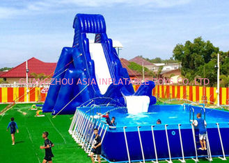 China Amazing Single Lane Jungle Blow Up Slip And Slide For Adults In Playing Center factory