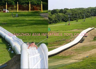 China Outdoor Inflatable Long Water Slide For Adult / 1000 FT Blow Up Slip N Slide factory