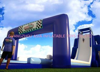 China Funny And Exciting Jungle Inflatable Rampage Water Slide For Amusement Games factory