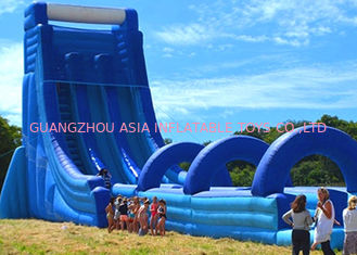 China Commercial Giant Inflatable Dry And Wet Slide For Adult / Dual Lane Inflatable Slip N Slide factory