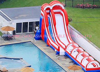 China Big Dual Lane Dry And Wet Slides For Adult / Commercial Inflatable Slip N Slide factory