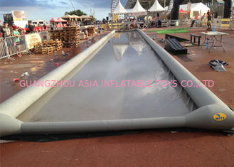 China Durable PVC Tarpaulin Giant Inflatable Slide / 1000 Foot Slip N Slide For Children factory