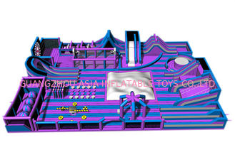 China Custom Purple Gigantic Inflatable Theme Park / Kids Trampoline Park factory