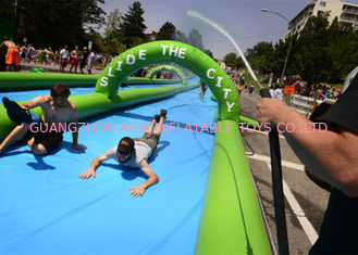 China Fire Retardant Outdoor Street Dry And Wet Slides For Amusement Park / Festival supplier
