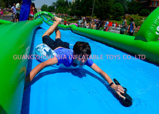 Fire Retardant Outdoor Street Dry And Wet Slides For Amusement Park / Festival