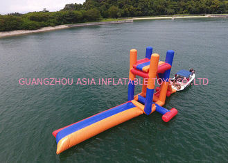 Giant Lake Inflatable Water Sports With 0.9mm PVC Funny Jumping Pillow Tower