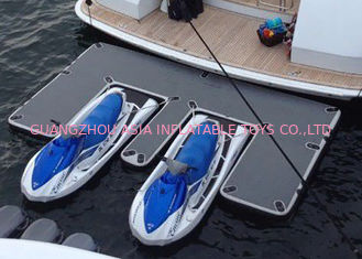 Waterproof Inflatable Yacht Slides With Personalized Logo Grey / Blue Color
