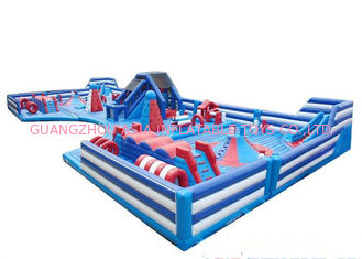 China Fire - Retardant Kids Blow Up Amusement Park 18oz Commercial PVC Material factory