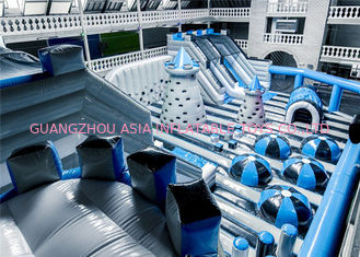 China Customized Attraction And Big Inflatable Theme Park With Vinyl Patch factory