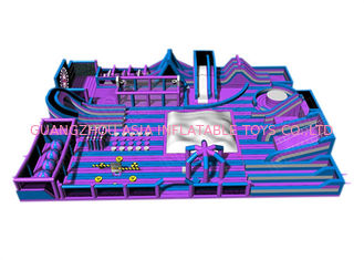 Customized Size Giant Inflatable Theme Park Indoor Games For Kids And Adults