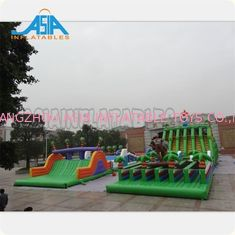 China Waterproof Inflatable Amusement Park / Giant Inflatable Obstacle Course factory