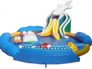 Hot Sales Giant Inflatable Shark Water Park, Inflatable On Land Pool Water Park